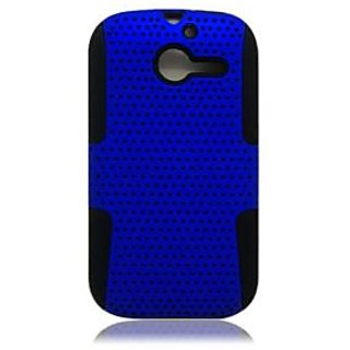 Aimo Wireless HWM866PCPA002 Hybrid Armor Cheeze Case for Huawei Ascend Y M866 - Retail Packaging - Black/Blue