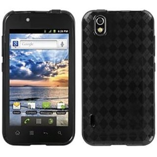 Asmyna LGLS855CASKCA064 Argyle Slim and Durable Protective Cover for LG: LS855 (Marquee) - 1 Pack - Retail Packaging - S