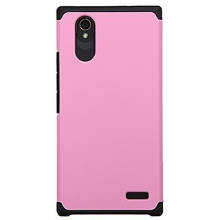Asmyna Cell Phone Case for ZTE N9518 - Retail Packaging - Black/Pink