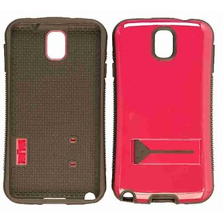 Cell Armor Novelty Hybrid Case for Samsung Galaxy Note 3 - Retail Packaging - Black/Hot Pink