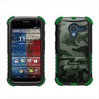 Beyond Cell High Impact Hybrid Hard + Soft Tough Armor Rugged Defender Case with 3 Layers of Protection and Built-In Kic