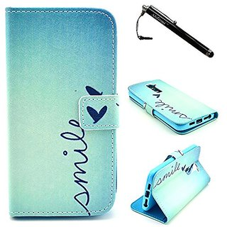 LG G2 Case,Ligt Blue Premium PU Leather Wallet Flip Protective Skin Case with Magnetic Clasp for LG G2/LG Optimus G2(Bui