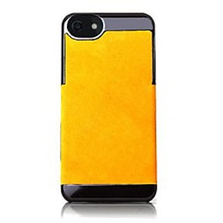 Camalen Corium Luxuria Genuine Leather Wrapped Snap Case for iPhone 5/5S - Retail Packaging - Mustard