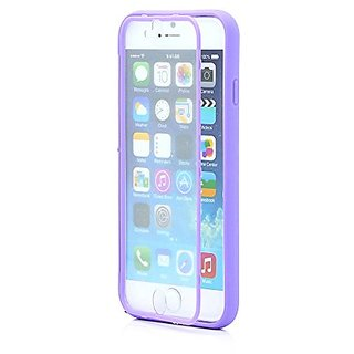 Gearonic Hybrid TPU Wrap Up Phone Case with Built-In Screen Protector for iPhone 6 - Non-Retail Packaging - Purple