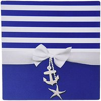 3dRose LLC 8 X 8 X 0.25 Inches Nautical Navy Blue And White Stripes Mouse Pad (mp_151234_1)