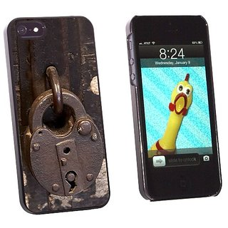 Graphics and More Lock Locked - Padlock Secure - Snap-On Hard Protective Case for Apple iPhone 5/5s - Non-Retail Packagi