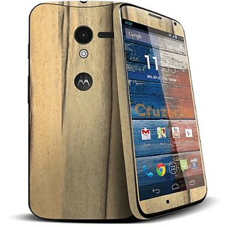 Cruzerlite Skin for Moto X - Retail Packaging - Persimmon Wood