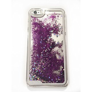 (6 (4.7) - Purple) New Glitter iPhone 6 (4.7) Case 3D Creative Liquid Design Case,Glitter Bling Star Flowing Liquid Hard