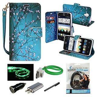 ZTE Prestige Case, Mstechcorp, Unique Design Flip PU Leather Fold Wallet Pouch Case Premium Wallet Flip Case For ZTE Avi