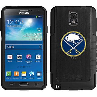 Coveroo Buffalo Sabres Primary Logo Design Phone Case for Samsung Galaxy Note 3 - Retail Packaging - Black