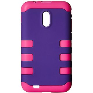 CP 2-in-1 Hard/Silicone Hybrid Case for Samsung Galaxy S II - Non-Retail Packaging - Purple/Hot Pink