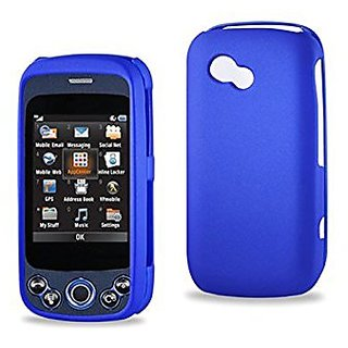Reiko Rubberized Protector Cover for LG Neon II GW370 - Retail Packaging - Navy