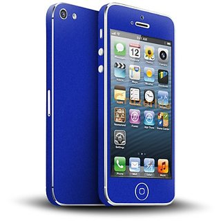 Cruzerlite Blue Antibacterial Skin for iPhone 5/5S - Retail Packaging