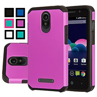 ZTE Obsidian Case, ZTE Obsidian Case With Screen Protector, AnoKe Armor Dual Layer Bumper TPU PC 2 in 1 Hybrid Protectiv