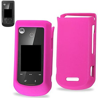 Reiko Rubberized Protector Cover for Motorola WX415 - Retail Packaging - Pink