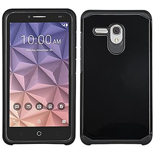 Alcatel Onetouch Fierce XL Case, Fierce XL Case Heavy Duty Shock Proof Absorbing Dual Layer Protection Cover Slim Protec