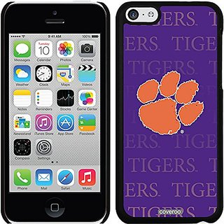Coveroo Clemson Repeating Design Phone Case for iPhone 5c - Retail Packaging - Black