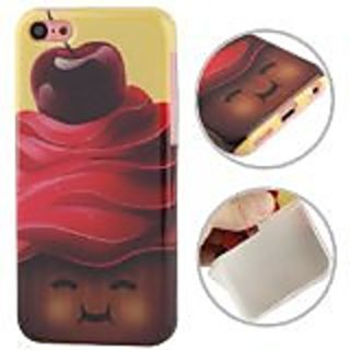 JUJEO Chocolate and Cherry Pattern TPU Case for iPhone 5C - Non-Retail Packaging - Multi Color