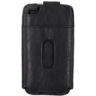 Limited Luxury IPHV1111-4 Leather Case for iPhone 4/4S - 1 Pack - Retail Packaging - Black