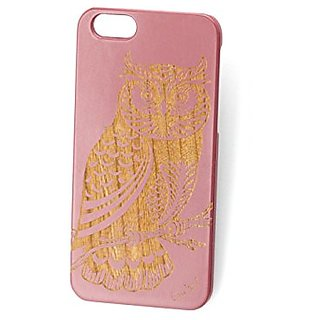 Custom Engraved Owl 2 Pink Wood Case For iPhone 6/6s and iPhone 6 Plus/6s Plus ( iPhone 6 Plus/6s Plus)
