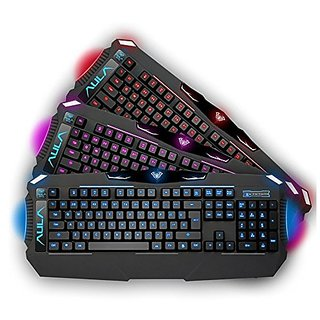 AULA DRAGON DEEP Three Backlit Four Grade Light Wired Gaming USB Keyboard