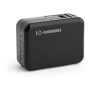 RANDOM ORDER Quik Charge 2.0 Home Charger for Smartphones - Retail Packaging - Black/Black