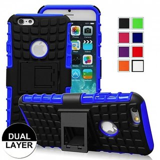 Iphone 6 Case, 3 in 1 Combo Hybrid Defender High Impact Body Armor Hard Pc & Silicone Case Protective Cover for Apple Ip