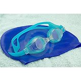 Imported Silicon Cap + Silicon Swimming Goggles + Ear & Nose Plugs, Swimming Combo Pack