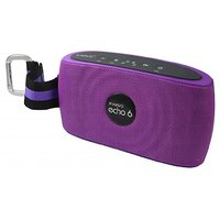 XWAVE Echo 6 6W Hi-Fi Portable Wireless Bluetooth Speaker With Built-in Microphone 12 Hour Rechargeable Battery (Violet)