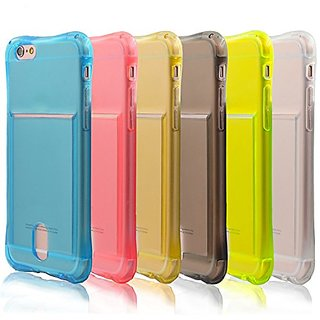 iPhone 6s Case, iPhone 6 Case, Pvendor TPU Clear Card Slot Case,Soft TPU Gel Cover,Shockproof Flexible Bumper with Card