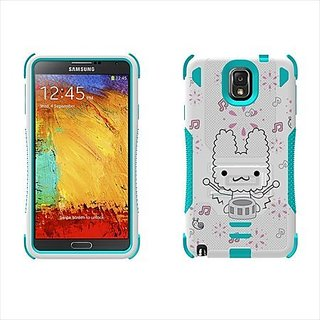 Beyond Cell Tri-Shield Durable Hybrid Hard Shell and Silicone Gel Case for Samsung Galaxy Note 3 - Retail Packaging - Wh