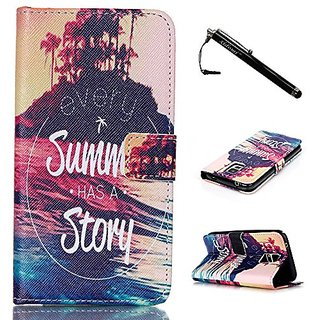 S5 Case,Galaxy S5 Case,Summer Story Top Quality TPU Leather Flip Wallet Protective Soft Skin Case Magnetic Flap Closure