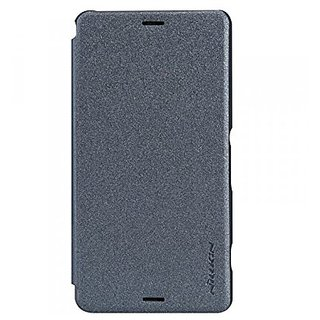 Nillkin Sparkle Leather Case for Sony Xperia Z3 (L55) - Retail Packaging - Black