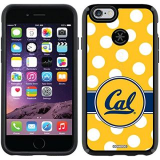 Coveroo CandyShell Cell Phone Case for iPhone 6 - Retail Packaging - UC Berkeley Polka Dot