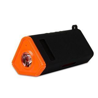 Kmashi Waterproof Bluetooth Speakers, with 4800mah External Battery Power Bank and LED Flashlight on Bicycle, Rugged Dus