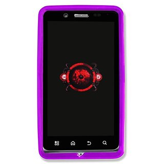 Qmadix Flex Gel Case for Motorola Bionic XT875 - Retail Packaging - Purple
