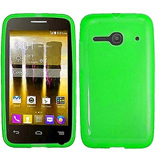 HR Wireless Alcatel One Touch Evolve 2 Solid TPU Cover Case - Retail Packaging - Neon Green