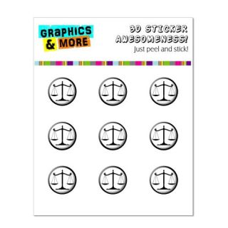 Graphics and More Balanced Scales of Justice Symbol Legal Lawyer Home Button Stickers Fits Apple iPhone 4/4S/5/5C/5S, iP
