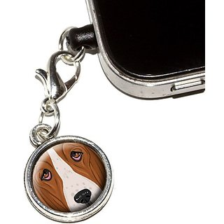 Graphics and More Basset Hound Face - Dog Pet Anti-Dust Plug Universal Fit 3.5mm Earphone Headset Jack Charm for Mobile