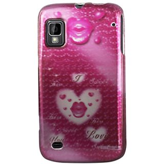 ZTE 2D Protector Cover for ZTE Warp 155 - Retail Packaging - Pink/Light Grey