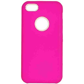 Cell Armor Hybrid Fit-On Jelly Case for iPhone 5C - Retail Packaging - Fluorescent Solid Rich Hot Pink