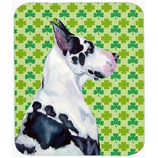 Carolines Treasures Mouse/Hot Pad/Trivet, Great Dane St. Patricks Day Shamrock Portrait (LH9191MP)