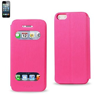 Reiko Fitting Case with TPU Material for iPhone 5 - Retail Packaging - Hot Pink