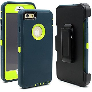 Hybrid Rubber Plastic Impact Defender Rugged Hard Case ,iPhone 6 Protective Case,iPhone 6S Protective Case, Screen Prote
