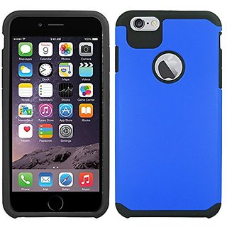 Zizo Slim Hybrid Cover with UV Coating for iPhone 6 Plus 5.5inch - Retail Packaging - Black/Blue