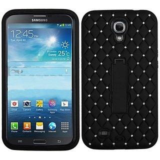 MyBat ASMYNA Samsung Galaxy Mega i527 Symbiosis Stand Protector Cover with Diamonds - Retail Packaging - Black