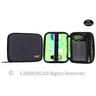 BUBM Fashion Cable Organizer Bag Travel Case Digital Storage Bag with Zipper/ Healthcare & Grooming Kit (Black)