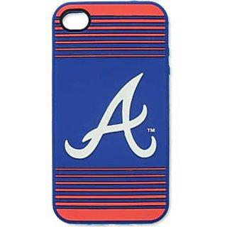 MLB Atlanta Braves Team Logo Silicone Ai4 Cover, Red