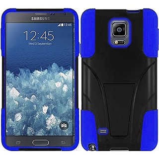 HR Wireless Samsung Galaxy Note Edge T-Stand Cover - Retail Packaging - Black/Blue