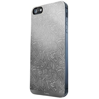Luardi 24 Karat Plated Skin for iPhone 5/5S - Retail Packaging - White Gold